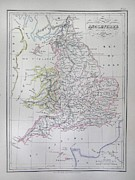 1833 Photos - Map of England by Paul Fearn