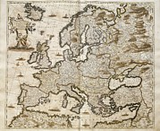Cartography Photos - Map Of Europe Of Frederick De Wit by Everett