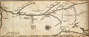 Old Map Paintings - Map of French Discoveries in America 1673 by MotionAge Art and Design - Ahmet Asar