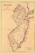 Movie Poster Prints Prints - Map of New Jersey 1812 Print by Movie Poster Prints