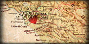 ELITE IMAGE photography By Chad McDermott - Map of Rome Roma Italy...