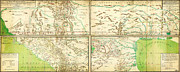 Vintage Map Paintings - Map of Spanish Holdings in North America 1769 by MotionAge Art and Design - Ahmet Asar
