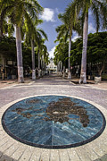Public Art Prints - Map of St. Maarten in the boardwalk Print by Sven Brogren