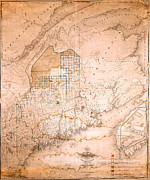 Old Map Paintings - Map of the State of Maine with the Province of New Brunswick 3rd ed Portland Me 1829 1844 by MotionAge Art and Design - Ahmet Asar