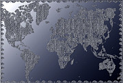 West Africa Digital Art - Map of the world by Radoslav Nedelchev