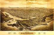 Old Map Paintings - Map of Victoria BC Canada 1878 by MotionAge Art and Design - Ahmet Asar