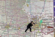 Map Overland Park Kansas Print by Liane Wright