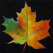 Automne Framed Prints - Maple Leaf Framed Print by Michael Creese