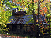 Robert Lozen Metal Prints - Maple Syrup Barn Metal Print by Robert Lozen