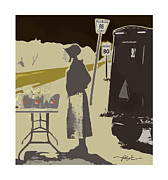 Farmer Mixed Media Prints - Maple Syrup For Sale Print by Bob Salo