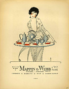 1920Õs Metal Prints - Mappin And Webb  1920s France Cc Tea Metal Print by The Advertising Archives