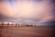 Long Framed Prints - Marathon Key Long Exposure Framed Print by Adam Romanowicz