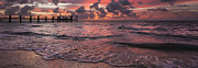 Violet Framed Prints - Marathon Key Sunrise Panoramic Framed Print by Adam Romanowicz