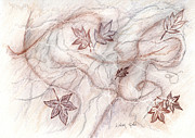 Linda Ginn - Marble and Leaves
