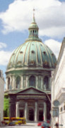 Domes Prints - Marble Church Print by Jeff Kolker