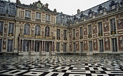 Palace Of Versailles Prints - MARBLE COURTYARD - PALACE of VERSAILLES - FRANCE Print by Daniel Hagerman