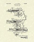 Pistol Drawings Posters - Marble Pistol 1932 Patent Art Poster by Prior Art Design