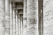 Holiday Photo Prints - Marble Roman Columns Print by Susan  Schmitz