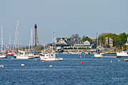Baker Island Photos - Marblehead Light and Yacht Club by Michelle Wiarda