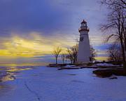 Jack R Perry - Marblehead Lighthouse Winter Sunrise