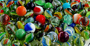 Ally Framed Prints - Marbles - Glass Balls - Toys - Ringers - Mibs Framed Print by Barbara Griffin