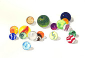 Marbles Paintings - Marbles by Michael Vigliotti