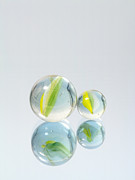 Mirror Reflection Prints - Marbles Print by Wim Lanclus