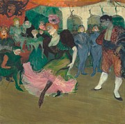 Marcelle Lender Dancing The Bolero In Chilperic Print by Toulouse-Lautrec