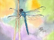 Dragonflies Originals - March Dragonfly by Lynne Hurd Bryant
