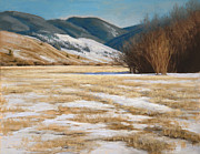 Ranch Pastels Prints - March Fields Print by Gary Huber