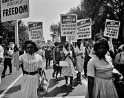 African-american Photo Framed Prints - March for Equality Framed Print by Benjamin Yeager