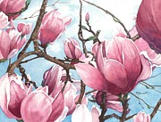 March Prints - March Magnolia Print by Barbara Jewell