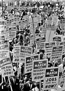 Segregation Prints - March on Washington Print by Benjamin Yeager