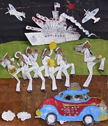 African Americans Mixed Media - March Or Die by William Tilton