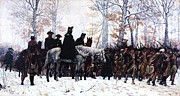 Reproduction Metal Prints - March to Valley Forge  Metal Print by Pg Reproductions