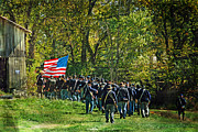 Franklin Tennessee Prints - Marching on straight into Battle Print by Janelle Oliver