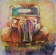 Rusty Truck Paintings - Marcias Truck by Carol Losinski Naylor