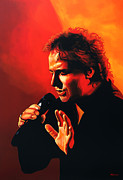 Singer Painting Framed Prints - Marco Borsato Framed Print by Paul  Meijering