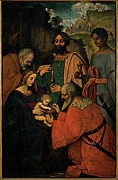 Holy Family Photos - Marco Doggiono , Giovanni Agostino Da by Everett