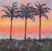 Marco Painting Framed Prints - Marco Island Sunset Framed Print by Eve  Wheeler