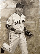 World Series Painting Acrylic Prints - Marco Scutaro Acrylic Print by Darren Kerr