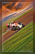 Apparel Framed Prints - Marco Simoncelli  Framed Print by Blake Richards