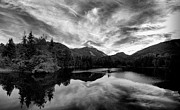 Sixers Framed Prints - Marcy Dam Pond Black and White Framed Print by Joshua House
