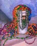 Louisiana Still Life Prints - Mardi Gras Beads in Louisiana Print by Lenora  De Lude