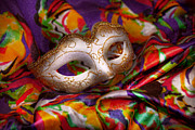 Masks Prints - Mardi Gras - Celebrating Mardi Gras  Print by Mike Savad
