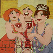 Drag Paintings - Mardi Gras Girls by Carole Katchen