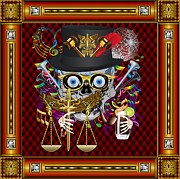 Scales Of Justice Framed Prints - Mardi Gras Judge Framed Print by Bill Campitelle
