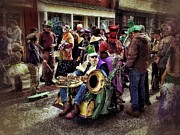 Asheville Digital Art Framed Prints - Mardi Gras Parade Framed Print by Mark Block