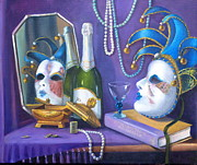 Mardi Gras Paintings - Mardi Gras by Rich Kuhn