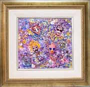 Balloons Mixed Media Originals - Mardi Gras by Sandra Artimowich